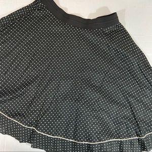 Anthro Tiny black polka dot elastic waist skirt